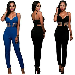 Factory Stock Bodycon Sexy Fashion Bondage Catsuit Dresses Women