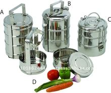 Rvs 3 Tier Tiffin <span class=keywords><strong>Lunch</strong></span> Hot Voedsel Carrier