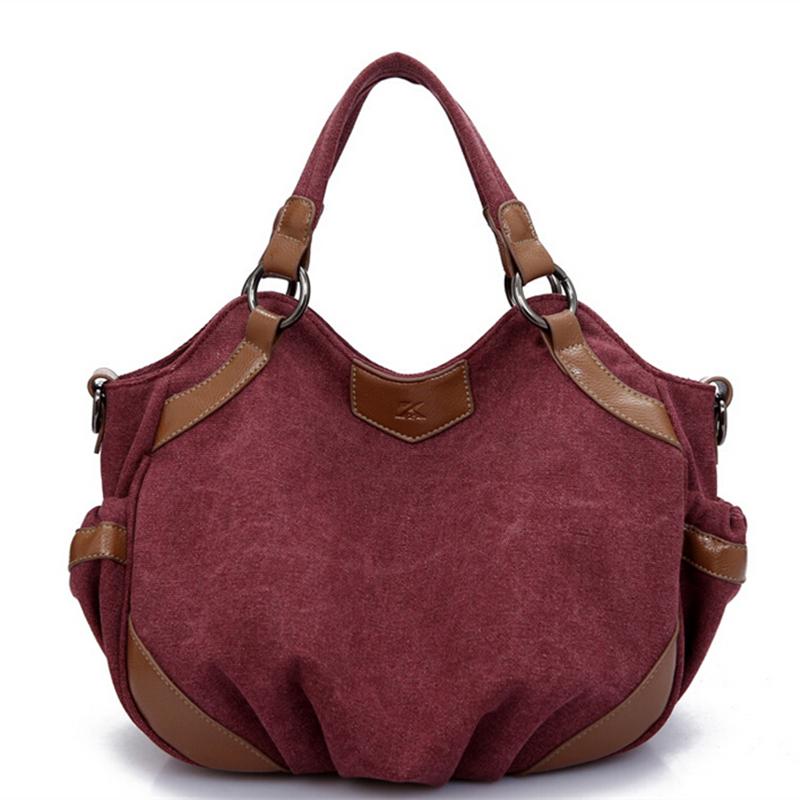 Get Quotations · New Retro Waterproof Canvas Bags For Women 2015 Plain  Designer Handbags High Quality Vintage Messenger Shoulder 1ea28ece06bef