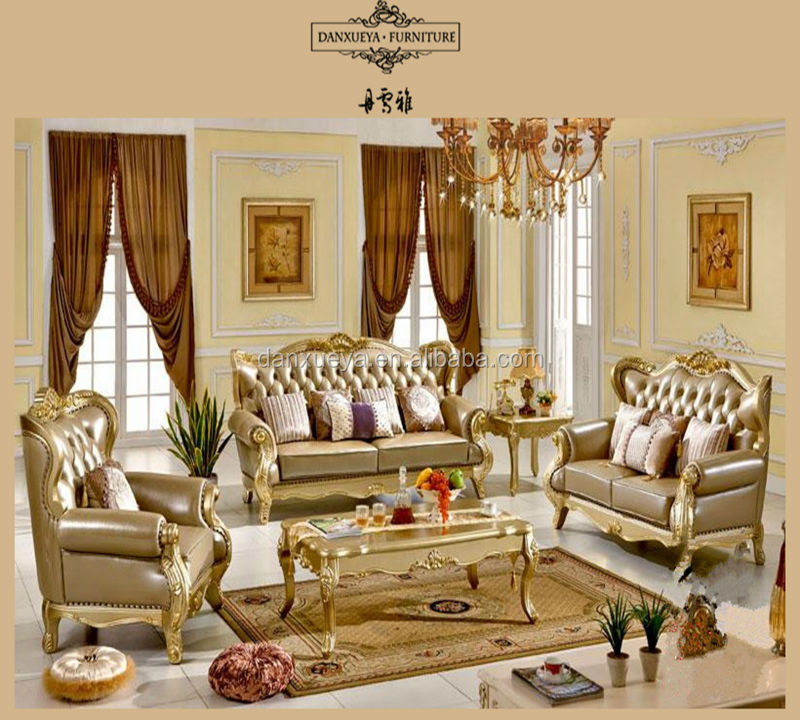 Italian Sofa Jakarta: Italienischen Leder Antiken Sofa Königliche Möbel