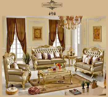 Italian Leather Antique Sofa Royal Furniture Sofa Set Luxury Sofa
