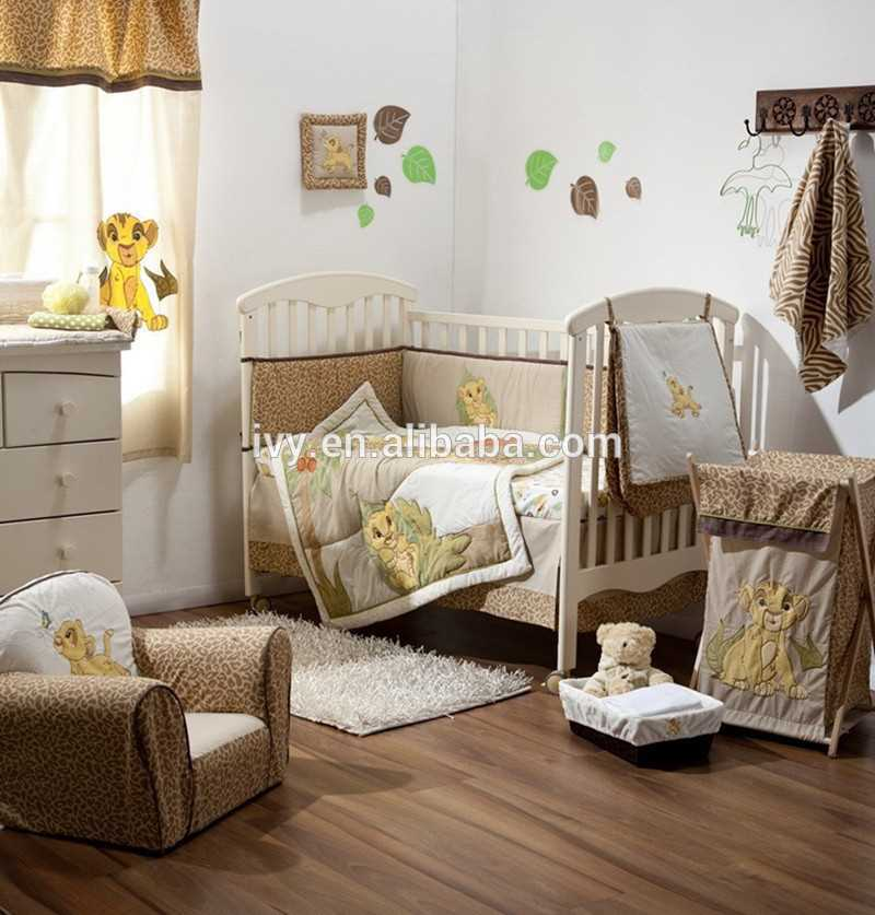 Embroidery Baby Bedding Set Anti Static