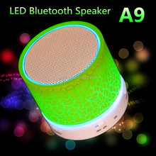 HOT 2016 Shenzhen New LED MINI Bluetooth Speaker A9 TF USB FM Wireless Portable Music Sound Box Subwoofer Loudspeakers