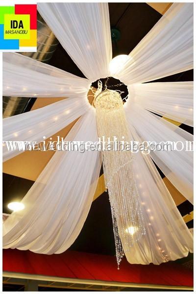 dcoration de mariage plafond draperie tissu haute qualit en mousseline de soie plafond drap avec - Drap Mariage Plafond