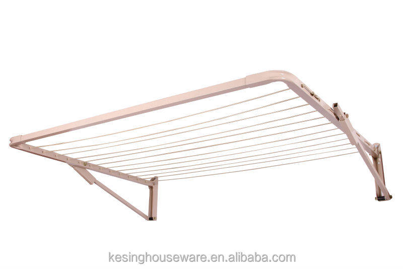 Foldingfoldable Wall Mount Clothes Drying Rack Galvanized Steel