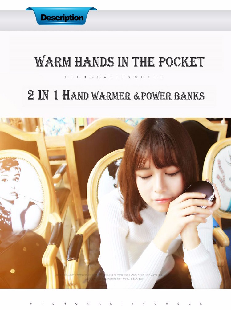 2016 high quality hand warmer mobile power bank