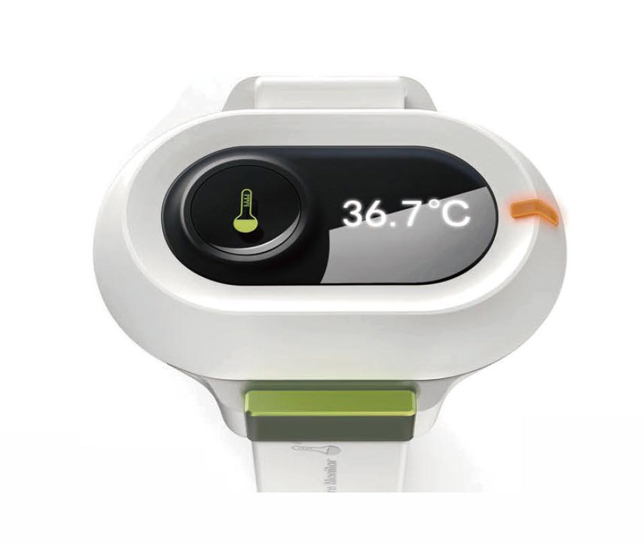 J-style bluetooth Digital Baby Thermometer monitor 24 hours measurement