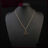 New fashion 2016 bangladesh jewelry thin gold chain necklace designs infinity triangle pendant necklace
