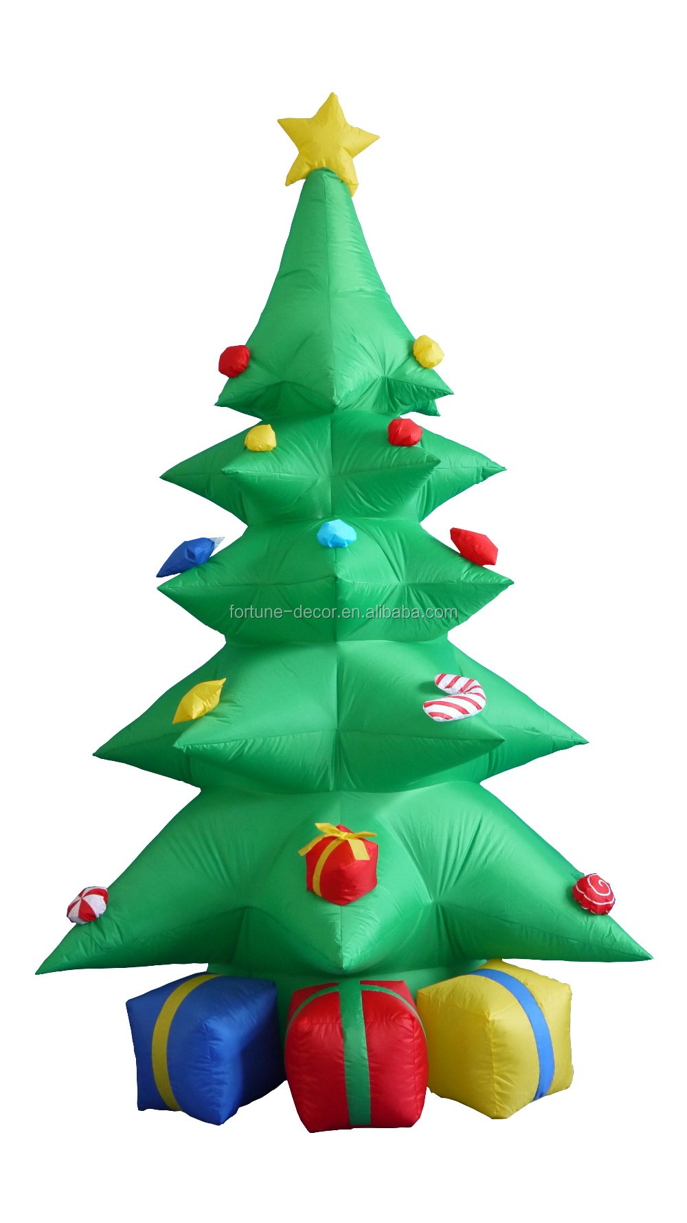 240cm/8ft Five Layers Inflatable Christmas Tree With Three Gift Bags ...
