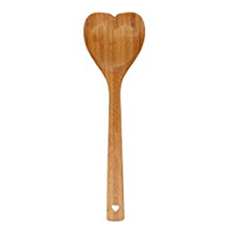 Bamboo Heart Shaped Wooden Spoon Non Stick Cooking Spoon For Kitchen