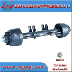 OEM air suspension axle agricultural parts manufacture king pin German American axle tires truck