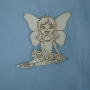 2mm laser-cut plywood shapes wooden angel