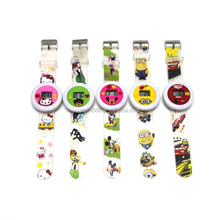 Custom PVC digital silicone slap watch for kids personalzied cartoon PVC digital watch band