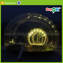 lighting transparent bubble tent inflatable igloo camping clear tent for rental