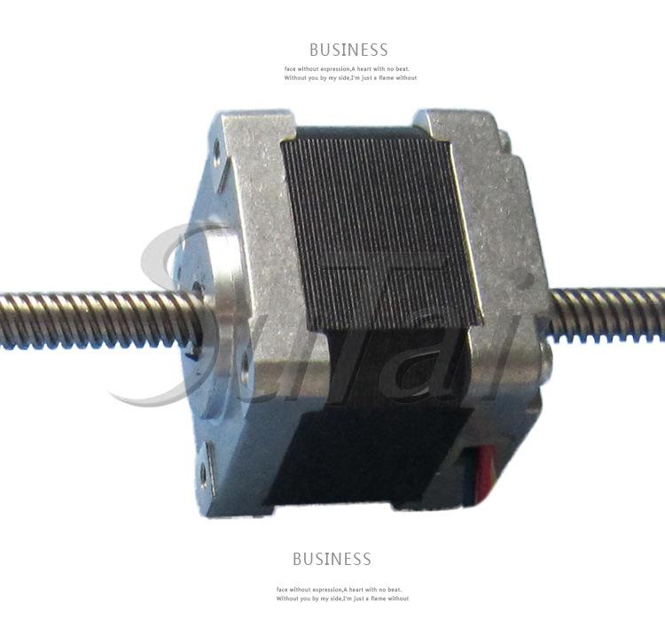 35mm nema 14 through type linear stepper motor lead screw for Types of stepper motor