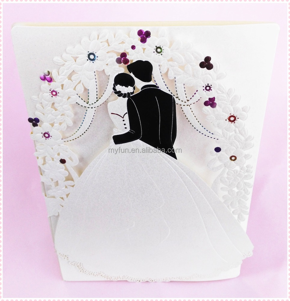 Top quality hot sales paper gift wedding invitation card