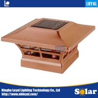 LOYAL sunpower outdoor solar panel LED plastic solar post caps for fences lighting