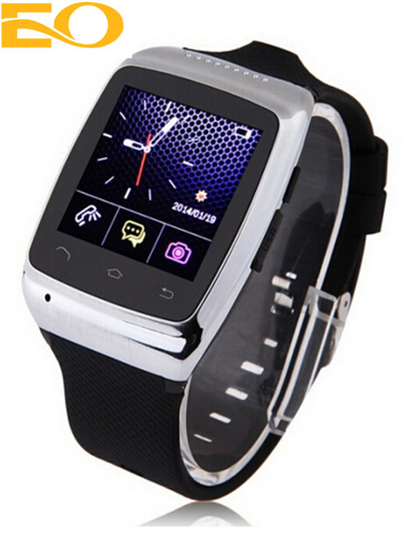 low price china mobile phone, Bluetooth Camera new GPS smart watch phone with FM radio