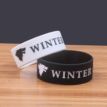 Winter komt Bewegen <span class=keywords><strong>Thema</strong></span> Marketing Adv Gift souvenir custom siliconen armband Man armband rubber bangle