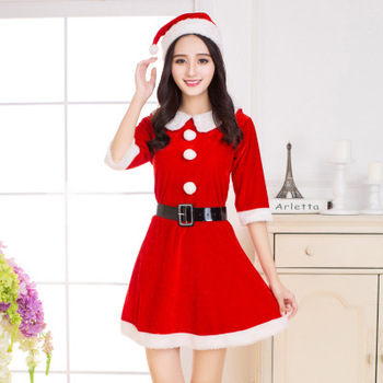 c2ba9cc20d Caliente las mujeres Santa adultos traje de la sra. Claus traje Sexy  Navidad vestido de