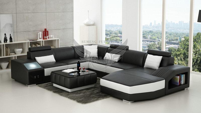 Swedish Round Corner Sofa Bed Chair With Led Light On Armrest