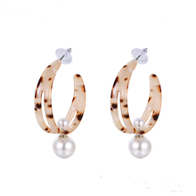 E-734 Xuping stainless steel 보석 <span class=keywords><strong>수지</strong></span> drop earrings