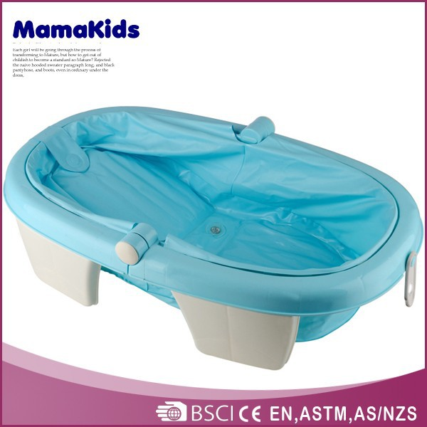 2015 new design plastic Foldable portable plastic child size bath tub