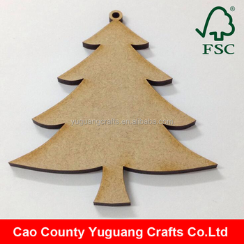 2016 christmas decorations gift tags mdf wooden christmas tree decoration