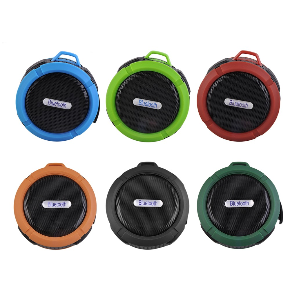 Portable Waterproof Wireless Car Bluetooth Shower Music Speaker Handsfree MIC