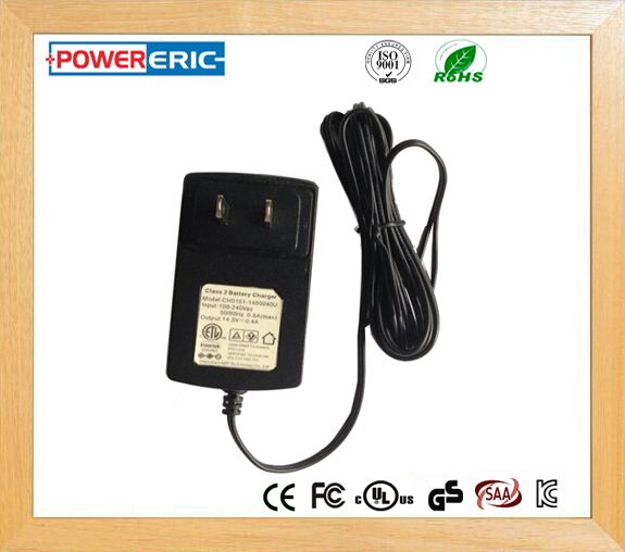Factory price 14.5V 0.4 A Class 2 Battery Charger
