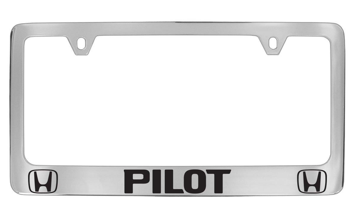 Pilot Automotive LP-061 Chrome Honda 3D License Plate