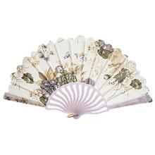 Складной вентилятор для танцев FanFolding в китайском стиле ручной вентилятор модное платье аксессуары Лето Fan19Mar26 Складной вентилятор Прямая п...(Китай)