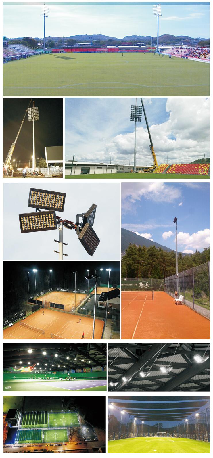 ETL LED estadio de la luz de inundación de IP66 200 W 400 W 600 W 800 W 1000 W LED mástil alto luz