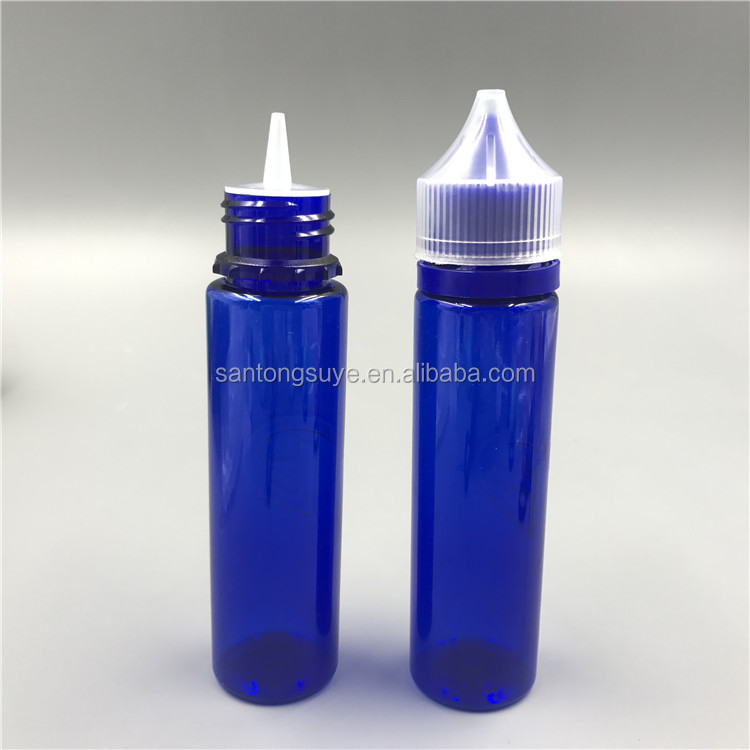 factory supply 60ML PET e-cig vape oil bottle with colorful tamper cap