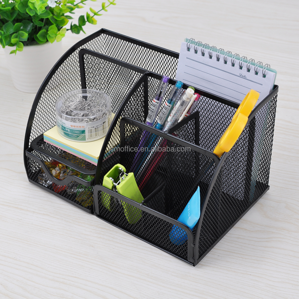 office pen holder. 7 Storage Multi-functional Metal Mesh Desk Organizer Pen Holder Stationery Collection Office School M