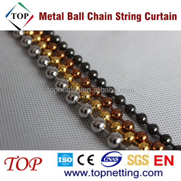 Stainless steel/ Brass Metal Ball Chain String Curtain