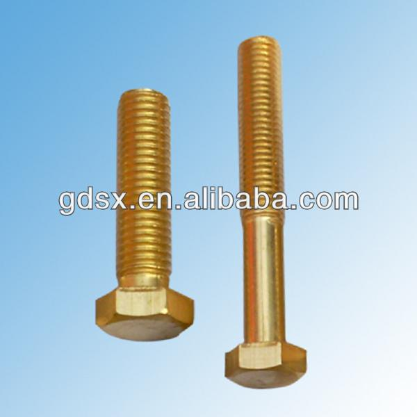 ISO9001:2008 passed square flat head brass/bronze/copper bolts m4 thread