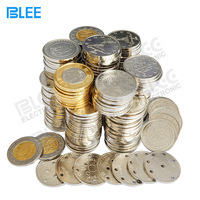 Popular in alibaba express arcade game machine token coin 2 sided custom tokens