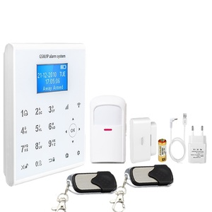 WIFI GPRS GSM APP push+call alarm+SMS alarm touch alarm system home security