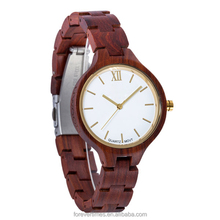 New fashion wooden watch supply 100% natural wood bamboo watch women