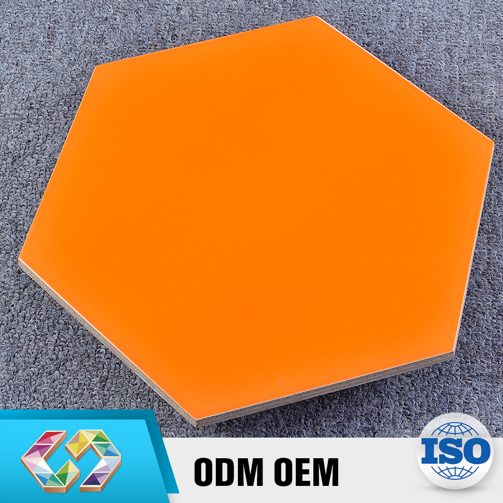 New Arrival Product 150X260X300 Indonesia Orange Hexagon Luminous Tile