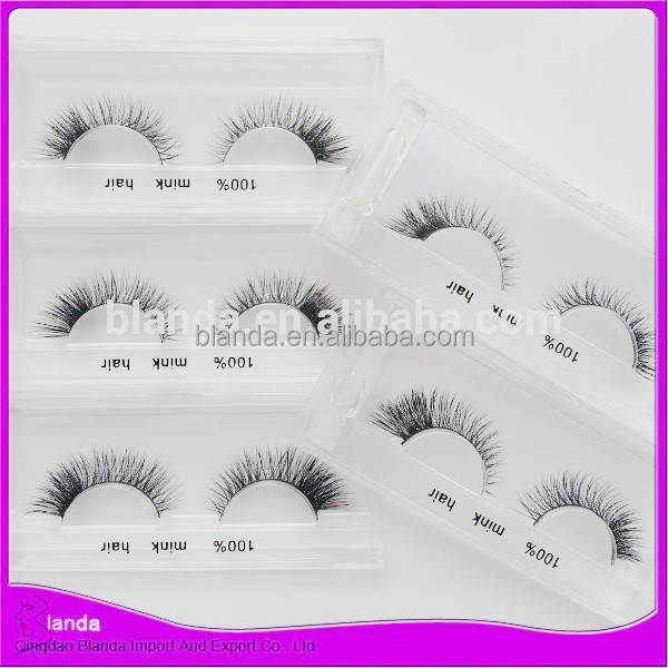 Qingdao eyelash ,fales eyelash,mink fur strip lashes