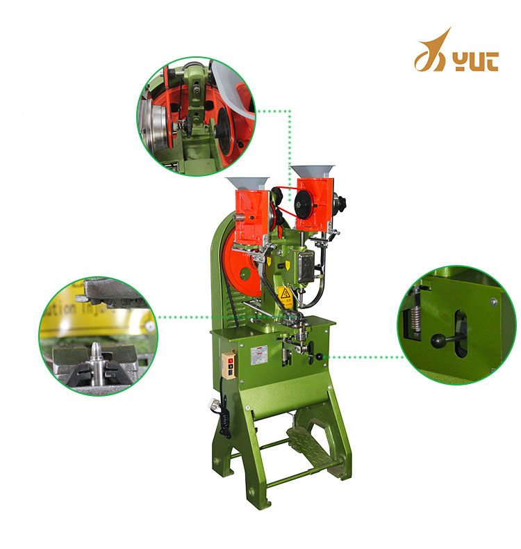 YT-989 Eyeleting Shoe Making Machine Automatic Eyeleting Machine For Riveting Belt/Shoe/Hat/Handbag/Leather