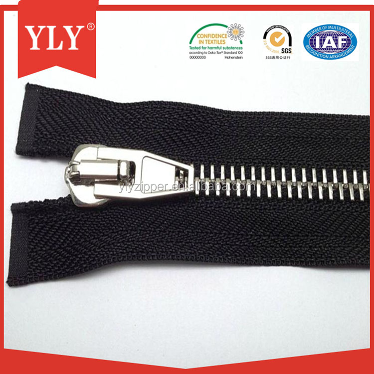 High quality YKK metal Y teeth zipper for jeans and jackets