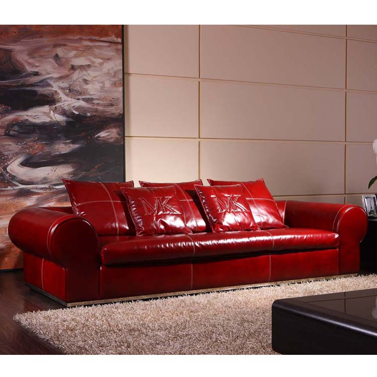 Classical Top Oil Leather Fancy Sofa,French Country Style Down Feather Sofa  Sectional With Metal Base - Buy Classical Sofa,Leather Sofa,Sectional Sofa  ...