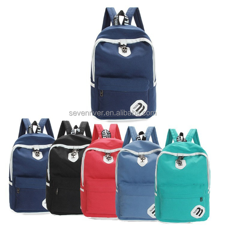Wholesale solar school casual new pattern canvas backpack