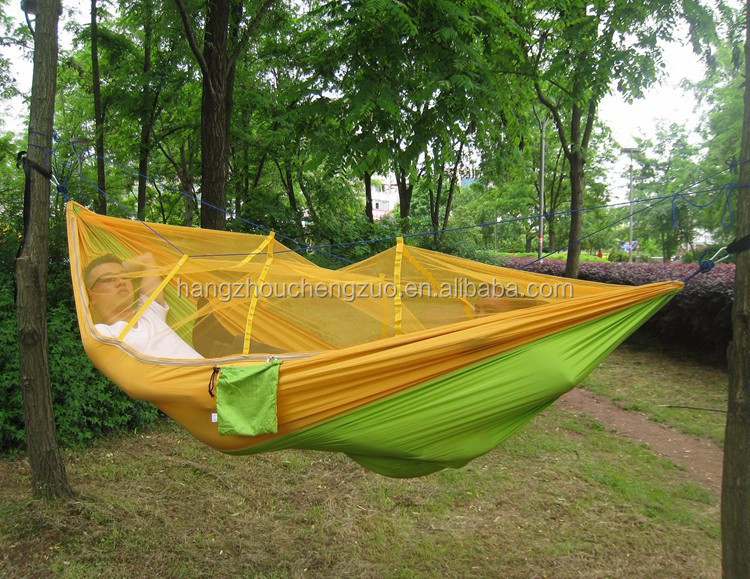 Hot Sale Portable Camping Outdoor Parachute Nylon Fabric Hammock Double Person