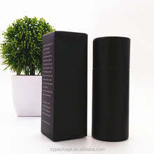 Black round and square paper tube e-liquid boxes 30ml packaging