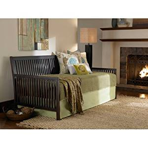 Fashion Bed Group Mission Wood Daybed Frame with Open-Slatted Back and Side Panels, Espresso Finish, Twin