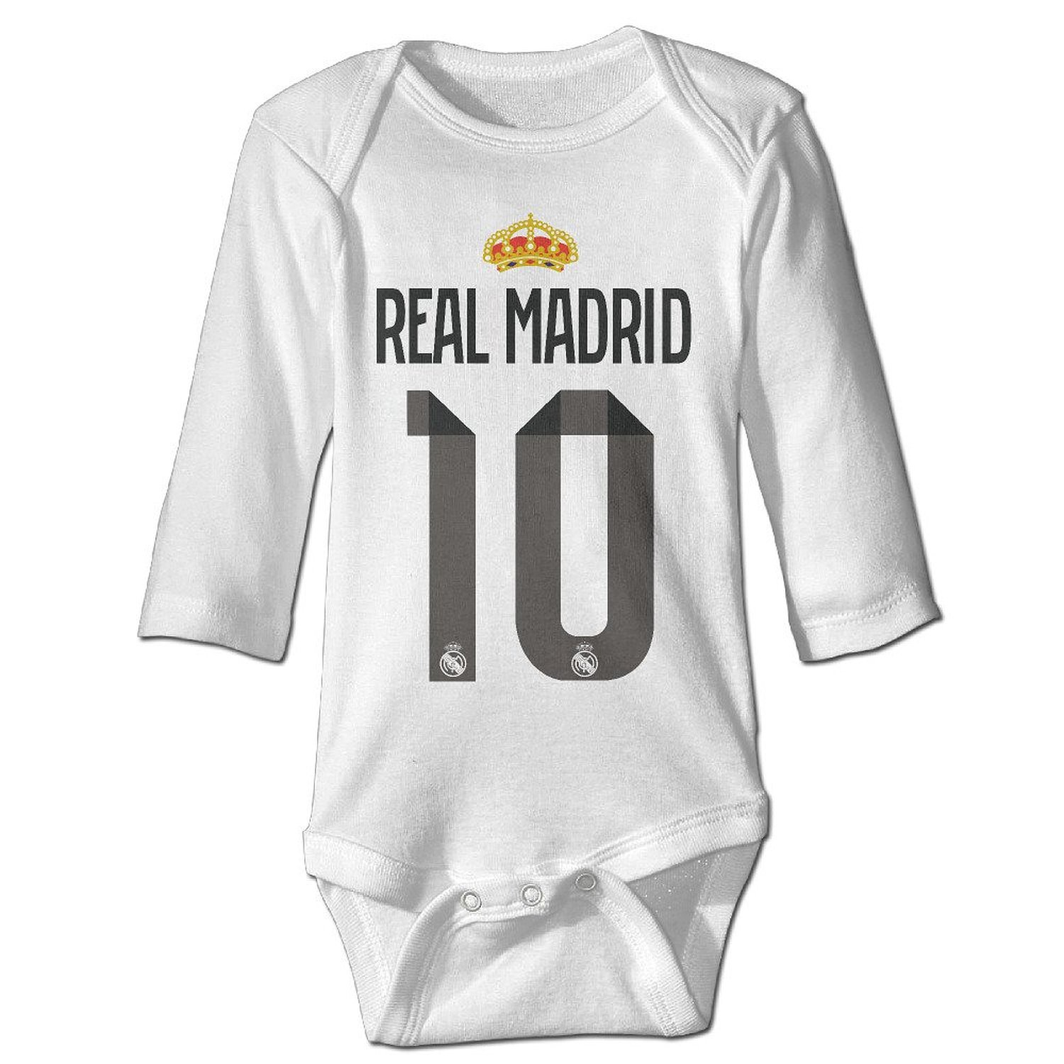 f1e2fc81f Get Quotations · PGiG Baby s Real Madrid CFJames Rodriguez  10 Hanging  Bodysuit Romper Playsuit Outfits Clothes Climbing Clothes